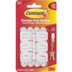 3M  Command - Mini Hooks 6/pk