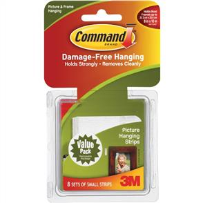 3M Command - Picture Hanging Strips - 8 Sets