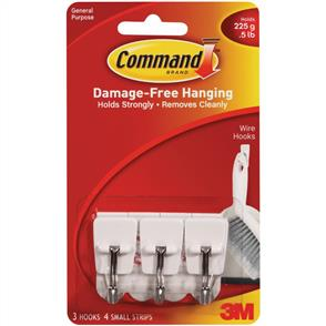 3M  Command - Small Wire Hooks 3/pk