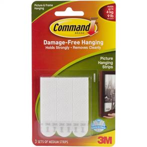 3M  Command - Picture Hanging Strips - 3pairs