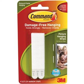 3M Command - Narrow Picture Hanging Strips