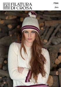 Filatura Di Crosa  Striped Crew-Neck Pullover, Collar & Hat, F944 Zara