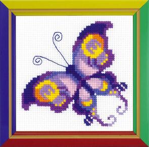 Riolis Amethyst Butterfly Cross Stitch Kit