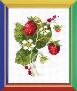 Riolis Wild Strawberry Cross Stitch Kit