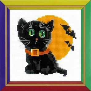 Riolis Black Cat Cross Stitch Kit