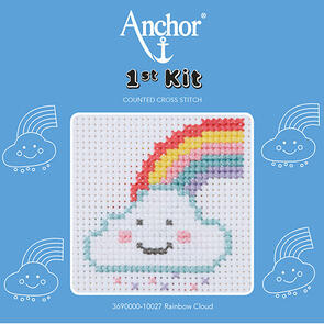Anchor  1st Kit - Cross Stitch - Rainbow Cloud