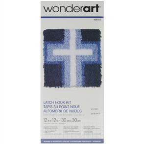 "Caron Wonderart  Latch Hook Kit - Cross of Light 12"" x 12"""
