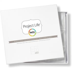 American Crafts Project Life Photo Pocket Pages 60/Pkg - Design A