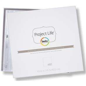 "American Crafts  Project Life Page Protectors 12""X12"" 60/Pkg"