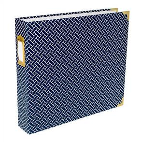 "American Crafts  Project Life D-Ring Album 12""X12"" Navy Weave"