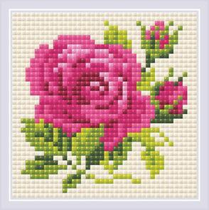Riolis Diamond Mosaic Pink Rose Kit