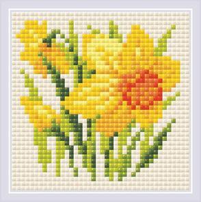 Riolis  Diamond Mosaic Yellow Narcissus Kit