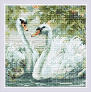 Riolis  Diamond Mosaic Kit - White Swans