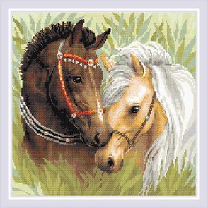 Riolis  Diamond Mosaic Kit - Pair of Horses
