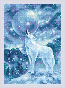 Riolis  Diamond Mosaic Kit - Ice-Cold Wind - Wolf