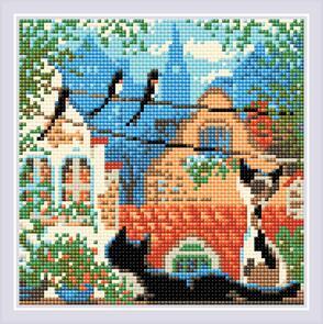 Riolis  Diamond Mosaic Kit - City & Cats - Summer