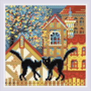 Riolis  Diamond Mosaic - City & Cats - Autumn