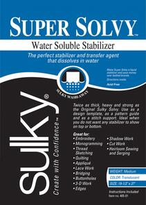 Sulky Super Solvy Water Soluble Stabilizer 20in x 1yd