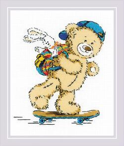 Riolis  Cross Stitch Kit - Teddy Bear Holiday