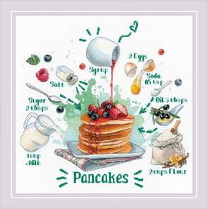 Riolis  Cross Stitch Kit - Recipe for Pancakes