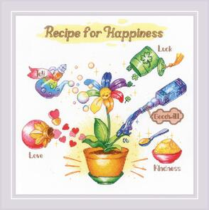 Riolis  Cross Stitch Kit - Recipe for Happiness