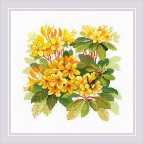 Riolis  Cross Stitch Kit - Rhododendron - Flowers
