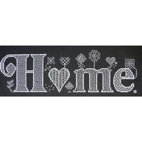 The Stitchsmith  Cross Stitch & Blackwork Kit: Home (Black)