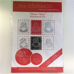 The Stitchsmith  Cross Stitch & Blackwork Kit: Mini Tikis