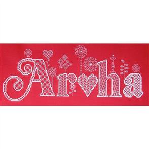 The Stitchsmith  Cross Stitch & Blackwork Kit: Aroha (Red)