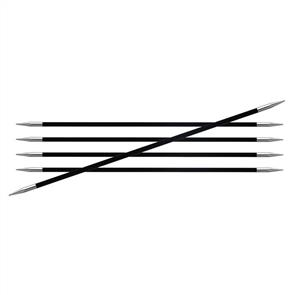 Knitpro Karbonz, Double Pointed Knitting Needles - 15cm