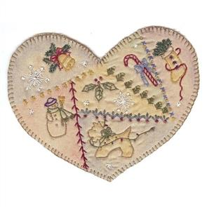 Chickadee Hollow Vintage Ornament Country Heart