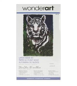 Caron Wonderart Latch Hook Kit White Tiger