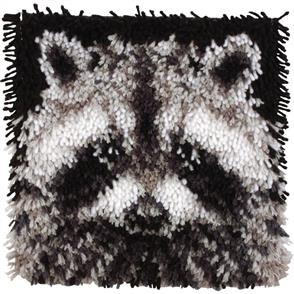 "Caron Wonderart Latch Hook Kit 12""X12"" - Raccoon"