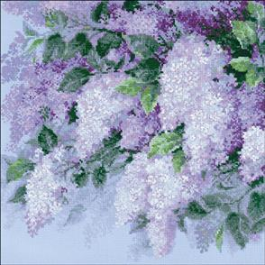Riolis  Lilacs After The Rain - Cross Stitch Kit