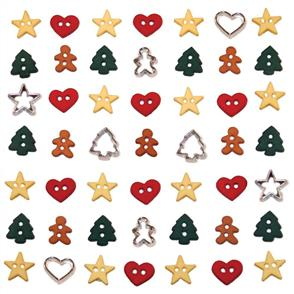 Dress It Up Holiday Embellishments - Itty Bitty Cut Out Cookies
