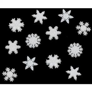 Dress It Up Holiday Embellishments - Glitter Snowflakes