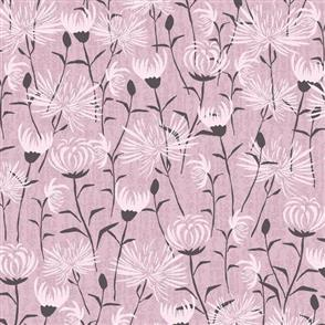 Stof Fabric  - Multi Flowers - BLACK/PINK