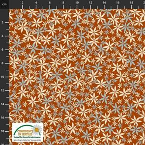 Stof Fabric  Multi Flowers - Rust