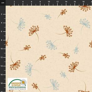 Stof Fabric  Floating Dandilion - BEIGE