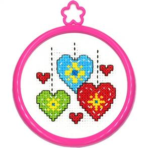 "Bucilla  My 1st Stitch Mini Counted Cross Stitch Kit 3"" Round"