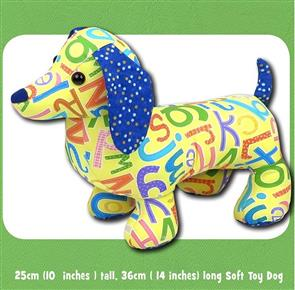 Funky Friends Factory  Digger & Dixie Dachshund Soft Toy Sewing Pattern