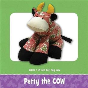 Funky Friends Factory  Patty The Cow Soft Toy Sewing Pattern