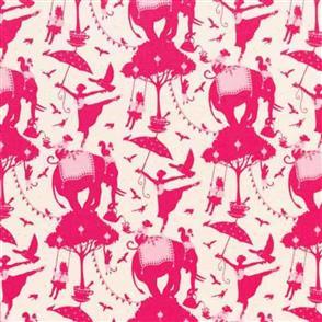 Tilda Tilda Fabric - Circus Collection - Circus Life Red