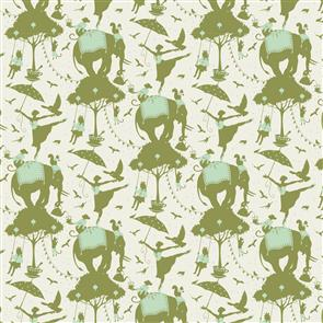 Tilda Tilda Fabric - Circus Collection - Circus Life Green