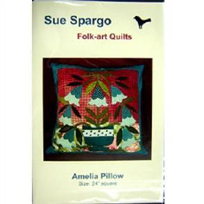 Sue Spargo Folk-art Quilts - Amelia Pillow