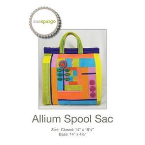 Sue Spargo Folk-art Quilts - Allium Spool Sac