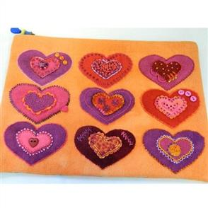 Sue Spargo  Folk-art Quilts - Heart to Heart Bag