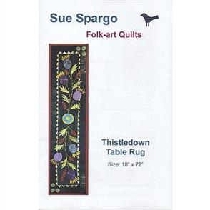Sue Spargo  Folk-art Quilts - Thistledown Table Rug