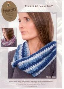Alpaca Yarns 2117 Crochet Tri Colour Cowl - Knitting Pattern