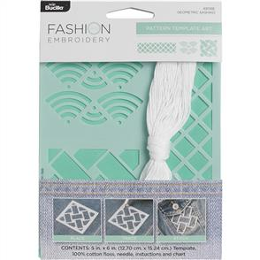 Bucilla Fashion Embroidery Template: Geometric Sashiko